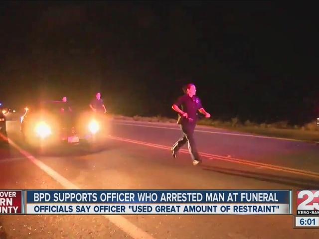 Man arrested during funeral for assault