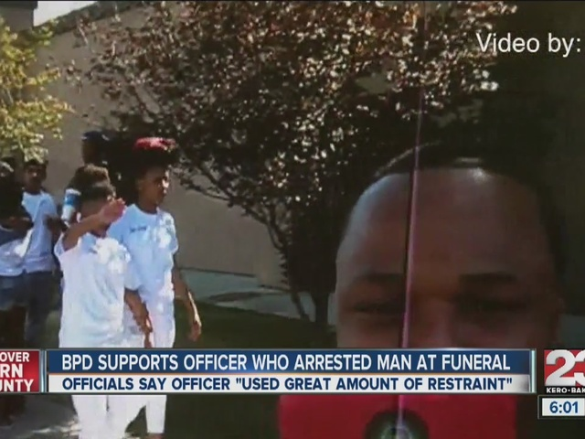 Man arrested for assaulting a peace officer at funeral