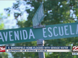 East Bakersfield home experiences sewage problem