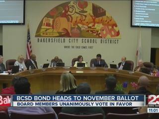 BCSD bond heads to the November ballot