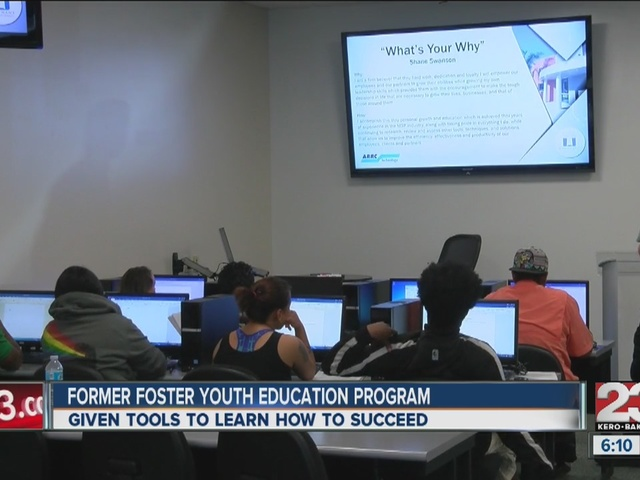 Former foster youth attend a two-day educational program