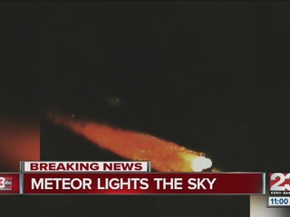 """Ball of Fire"" likely from meteor shower"