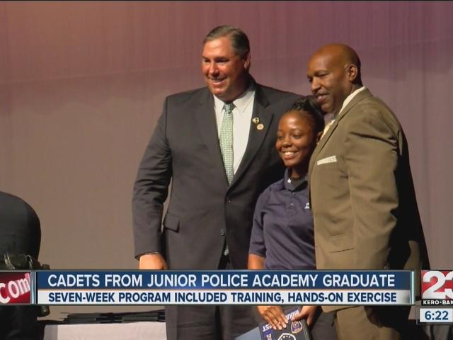 Junior Police Academy graduation