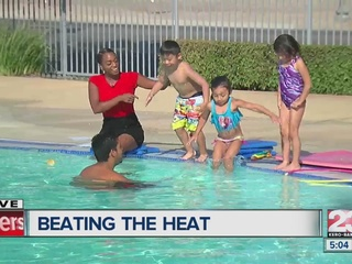 Locals flock to pools, spray parks to cool off