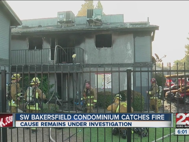 Southwest condominium caught fire