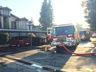 Fire erupts at apartment complex on Beechwood