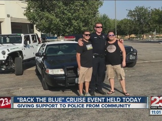 Back the Blue cruise in Bakersfield