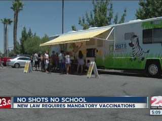 New law requires mandatory vaccination for kids