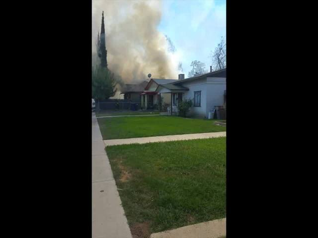 House fire on P Street in Central Bakersfield