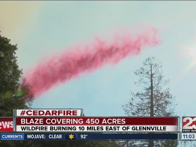 Cedar fire burns near Glennville 11am update