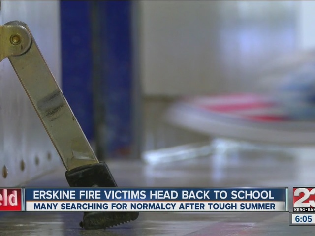 Erskine Fire victims return to school
