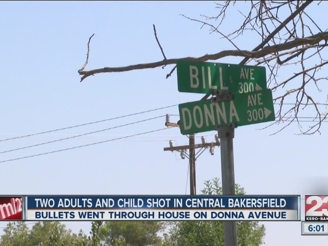 Toddler among three shot in Central Bakersfield