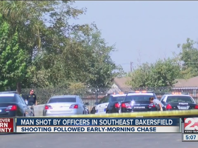 MAN SHOT BY BAKERSFIELD POLICE OFFICERS