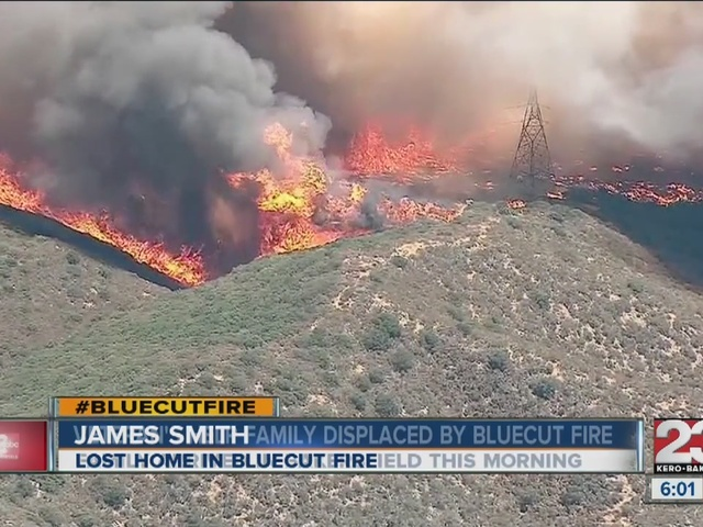 Veterans help family displaced by Bluecut fire