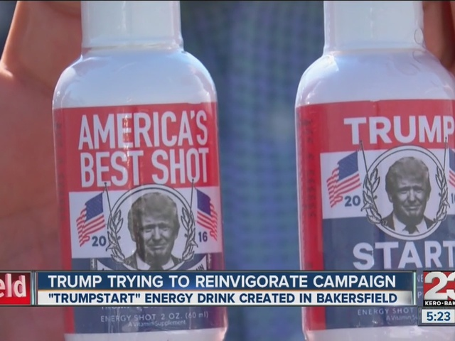 TrumpStart energy drink created in Bakersfield