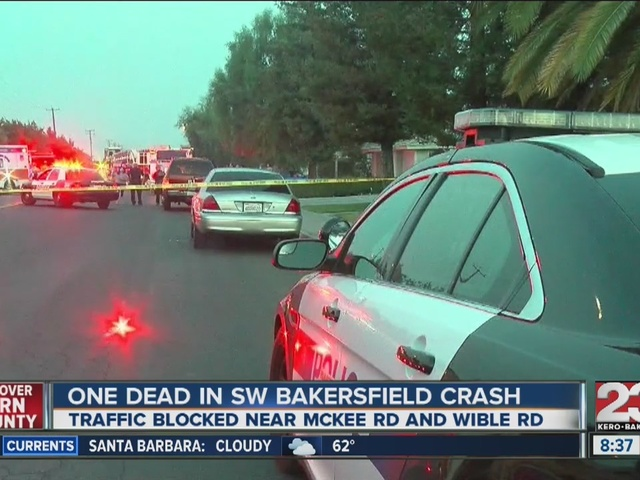Car crash kills one in SW Bakersfield