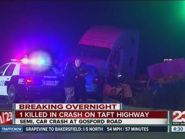 1 dead in crash on Taft Highway