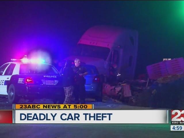 Deadly stolen car crash