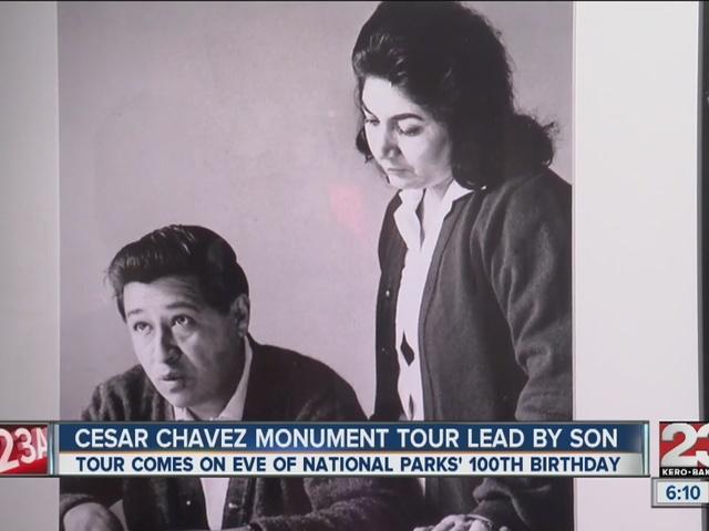 Casar Chavez Monument tour lead by his son