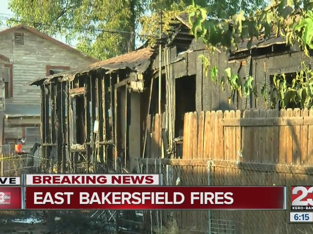 Fire displaces 5 in East Bakersfield