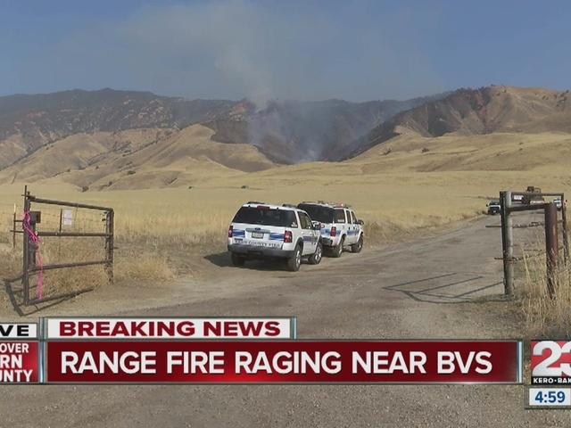 Range Fire burns near Bear Valley Springs