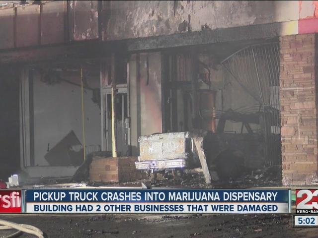 Truck crashes into a marijuana dispensary