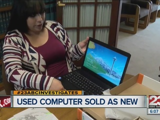 Used computer sold as new