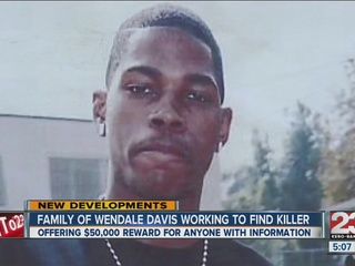 Wendale Davis' family offers $50,000 for info