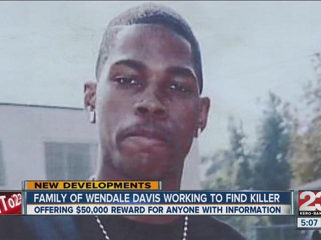Wendale Davis' family reinstates $50,000 reward for information on killer