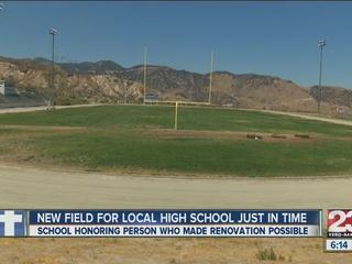 Frazier Mountain High School gets a new field