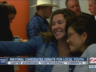 Mayoral candidates debate for local youth