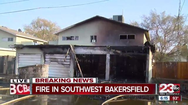 Fire reported in Southwest Bakersfield