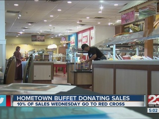 10% of Hometown Buffet sales to go to Red Cross