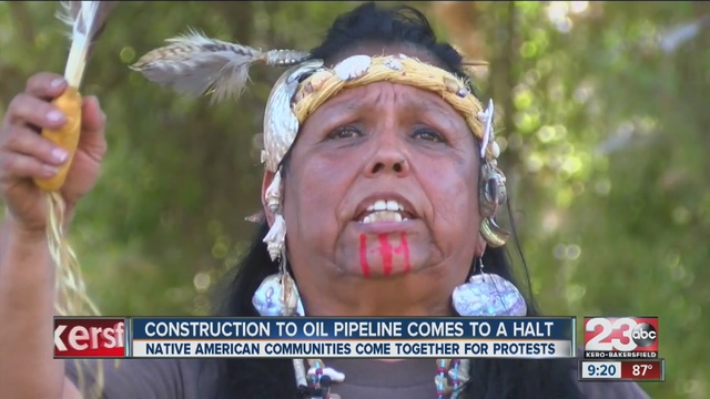 Locals travel to North Dakota to support oil pipeline protest