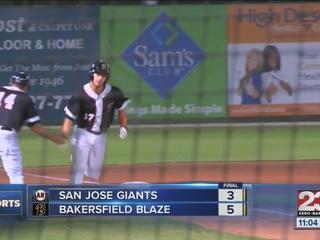 Blaze beat Giants 5-3; move on to face Visalia