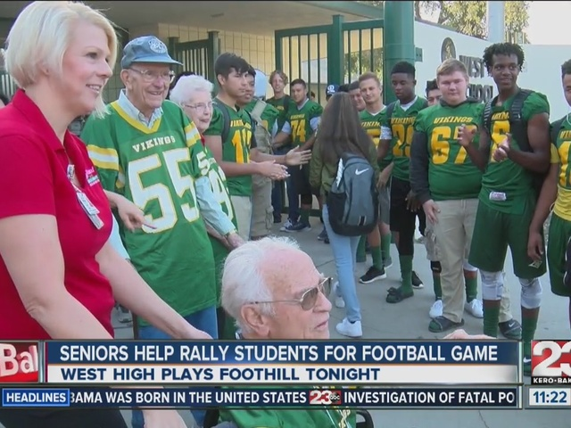 Seniors Help West High School Students Rally For Tonights Football Game