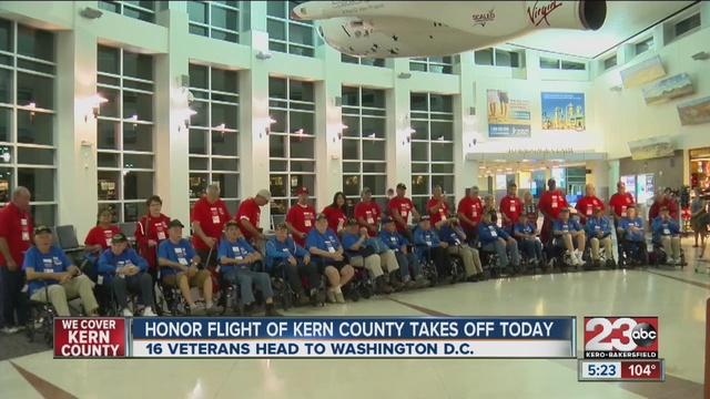 Honor Flight veterans return to Bakersfield tonight