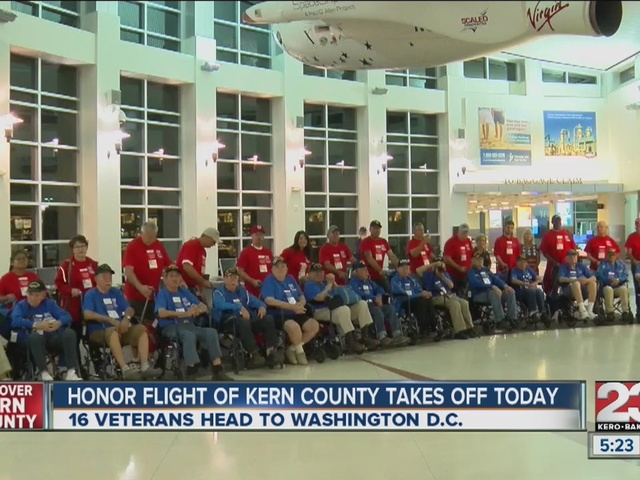 Kern County Honor Flight takes veterans to DC