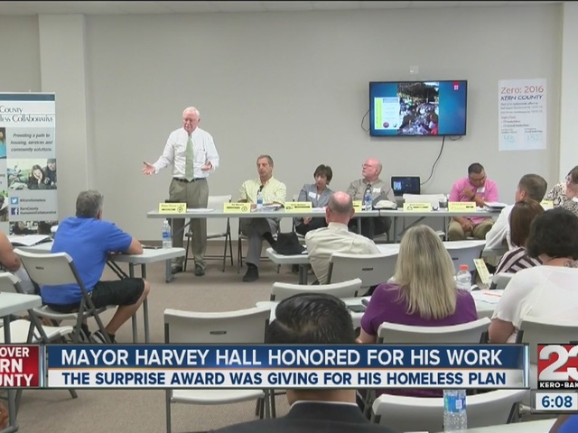 Mayor Harvey Hall honored for work with homeless