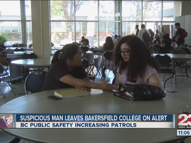 Suspicious man leaves Bakersfield College on alert