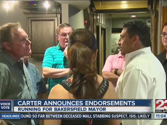 Kyle Carter announces endorsements at press conference Tuesday