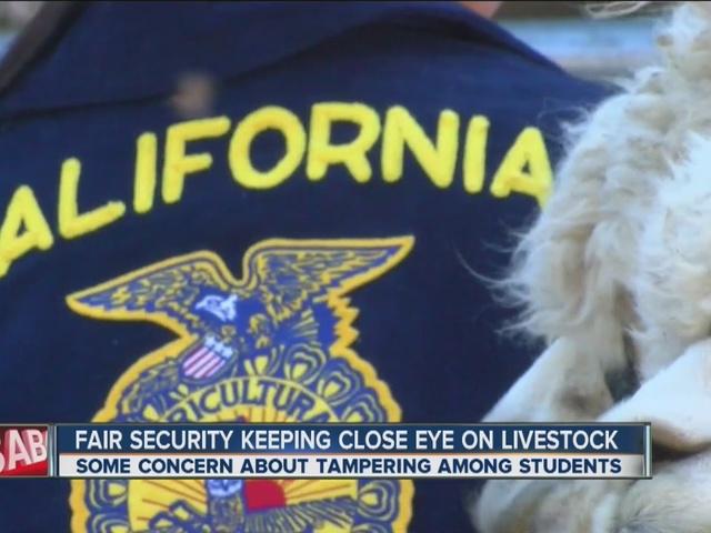 Fair security keeping a close eye on livestock