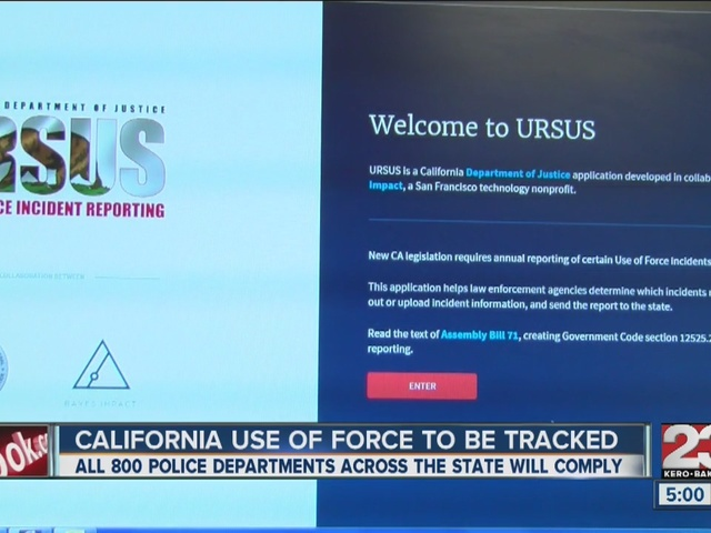 California police departments will now track use of force