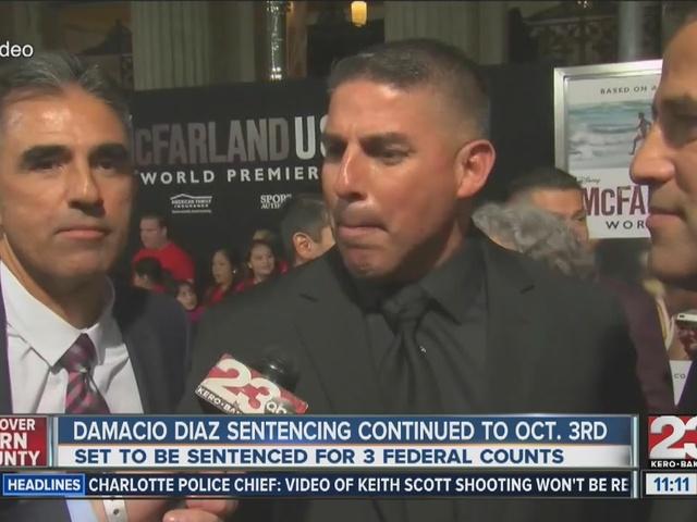 Sentencing for Damacio Diaz continued to October
