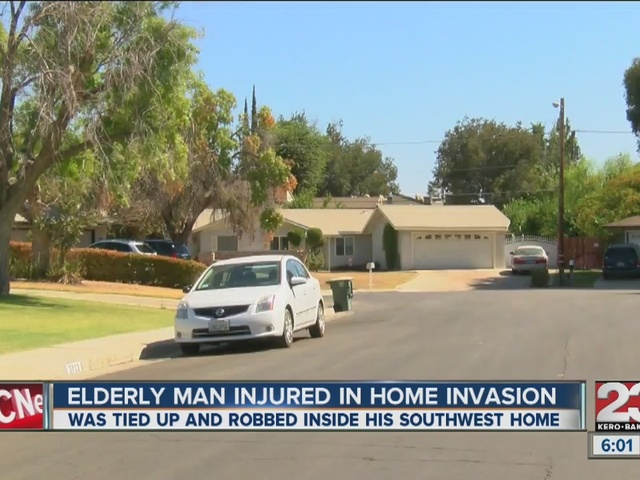 81-year-old man tied up and robbed