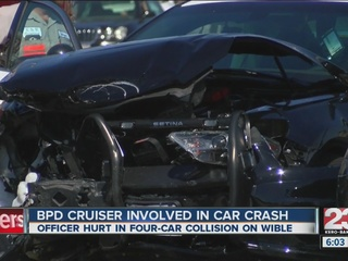 BPD officer rushed to the hospital after crash