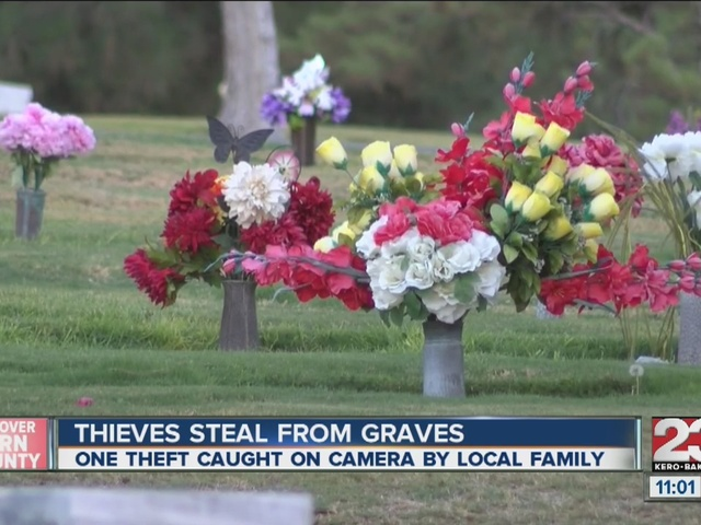 Grave robbery at Bakersfield cemetery
