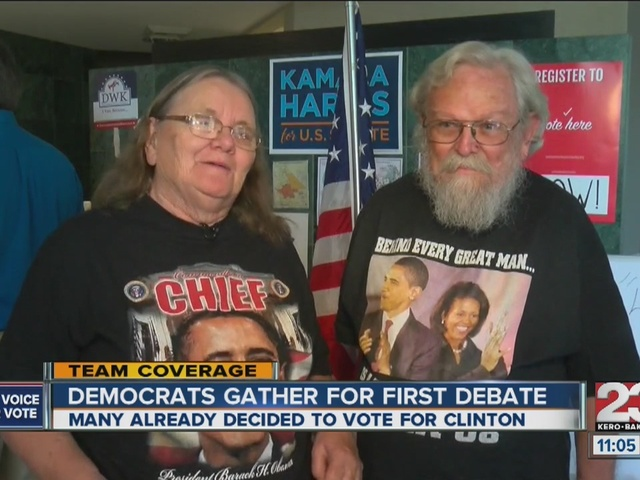 Bakersfield Democrats gather to watch first debate