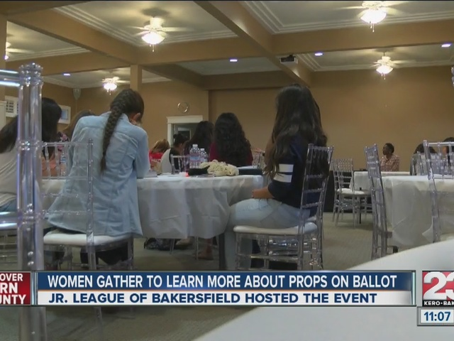 Women gather to learn more about props on ballot