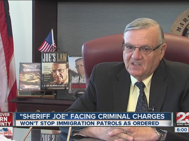 Sheriff Joe Arpaio could face jail time following contempt of court charge